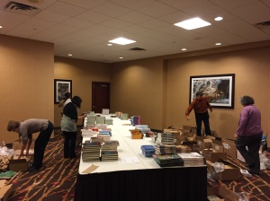 Setting up the bookstore